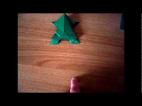 Video fotografico  Origami la rana che salta