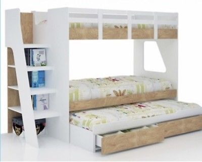 Bunk-Bed-single-with-trundle-and-DRAWERS-NEW-IN-BOX-NEW-DESIGN-Kids