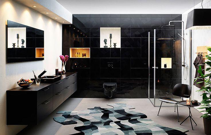 Gustavsbergs svarta badrum - Black Diamond