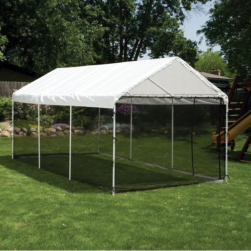 W X 20 Ft. D Canopy Kit Outdoor Shade, Structure.