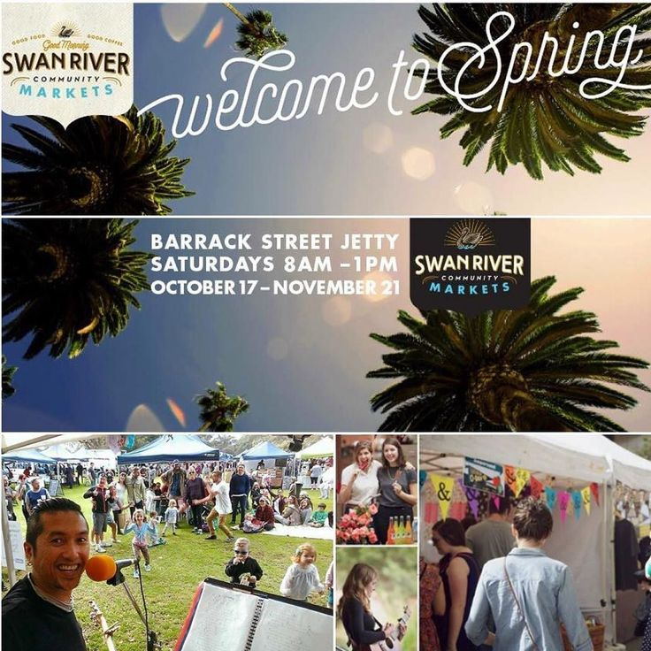 Community Markets - Welcome to Spring - Swan River Barrack Street - Perth City location - Every Saturday until 21st November - Food and market stalls for everyone - Family event  #Perthtodo #perthmarkets #perthmarket #marketsinperth #perthlife #perthisok #cityofperth #eventsperth #perthgram #perthfoodies #perthfun #funinperth #foodinperth #perthisgettinggroovy #weloveperth #iloveperth #perthevents #madeinperth #madeinwa by perthtodo
