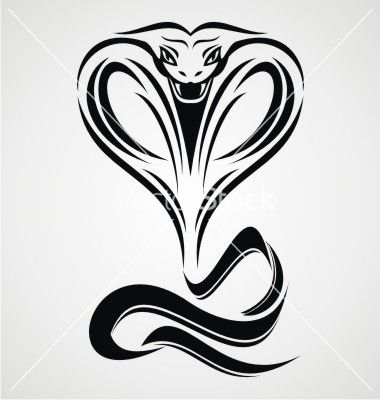 Cobra snake tribal vector by iwant61 on VectorStock®