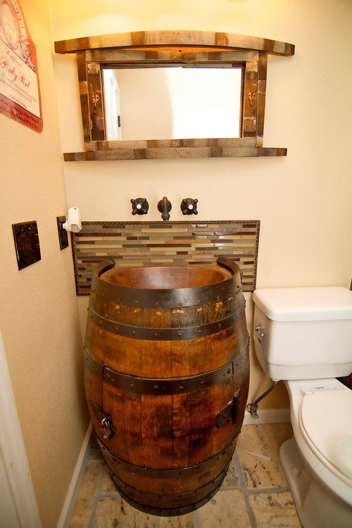 Best 25 Barrel Sink Ideas On Pinterest Wine Barrel Sink