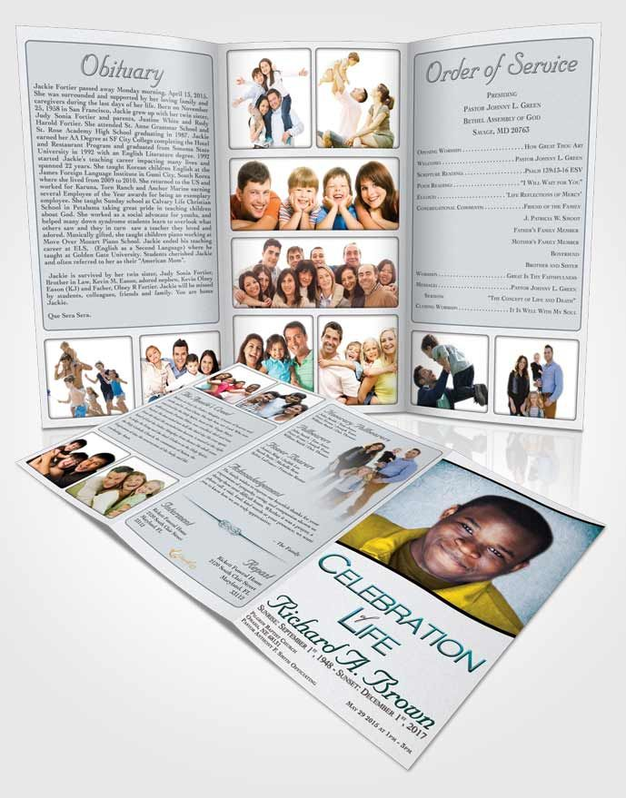 Best Obituary Template Trifold Brochures Images On