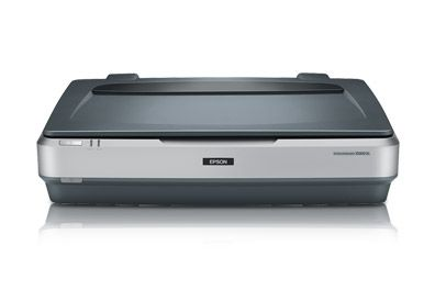 EPSON Expression 10000XL- Graphic Arts Scanner. Finally bought one after years of bumming scans off of the studios I worked for. Pays for itself when you consider how much time you spend stitching comics pages together.