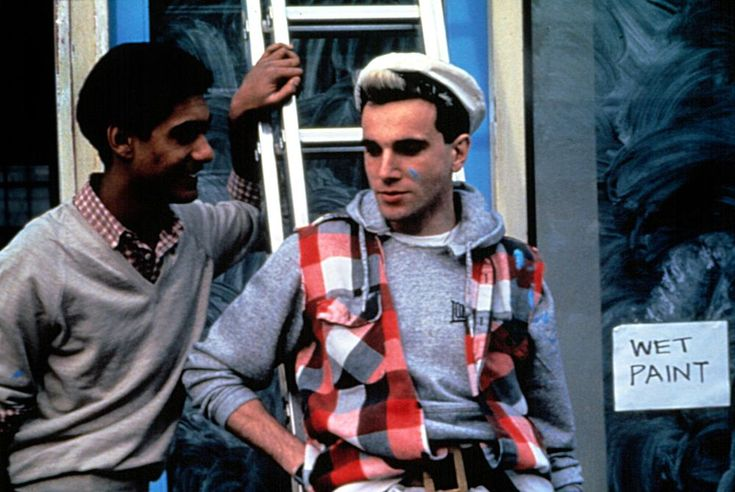 Gordon Warnecke, Daniel Day-Lewis, 1985 | Essential Gay Films To Watch, My Beautiful Laundrette http://gay-themed-films.com/films-to-watch-my-beautiful-laundrette/