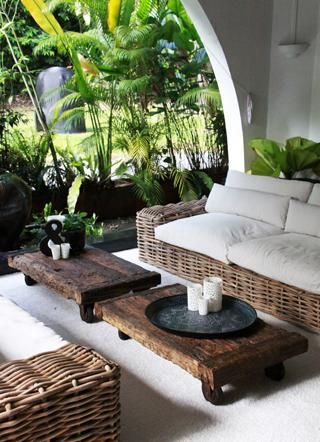 The table are great and if built a little taller, could also double as seating! Outdoor Furniture | Galanga Living