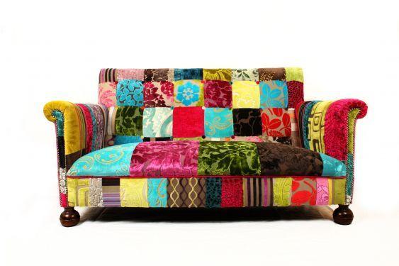 Patchwork Covered Furniture | Patchwork Furniture / Bisley Patchwork Sofa