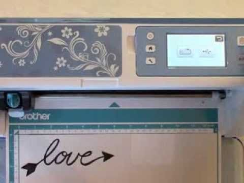 Brother Scan N Cut And Tattered Lace Dies - YouTube