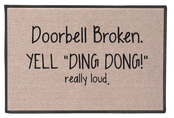 Ding Dong Door Mat