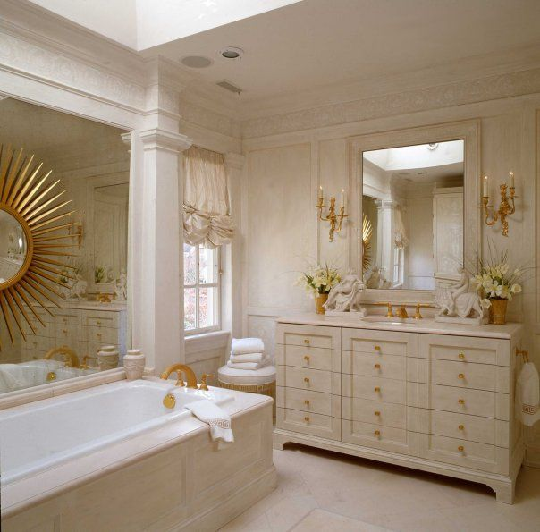 17 best images about dreamy baths powder rooms on for Tangerine bathroom ideas