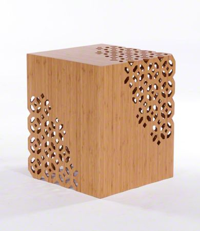 Lace End Table $299 Height 53cm Depth 44.5cm Width 44.5cm Laminated bamboo