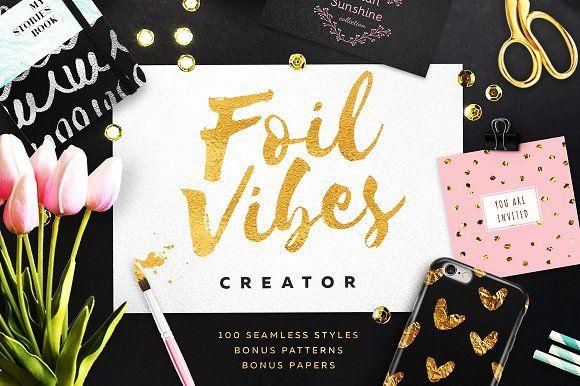 Foil Vibes Creator + Massive Bonus by Eskimo Creative on @creativemarket