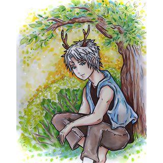Фото Instagram на whimsicalillustration - маленькое вступление для конкурса @lulupapercranes ОС. Это ее оригинальный олень мальчик характер. Это смесь акварель, тушь, цветной карандаш. . #lulu_contest �� . #рисовать #рисунок #иллюстрации #иллюстрация #иллюстратор #рисует #искусство #художник #artoftheday #ОС #ок #originalchatacters #mangaart манга ##mangaboy #mangaboys #аниме #animeboy #animeboys #отаку