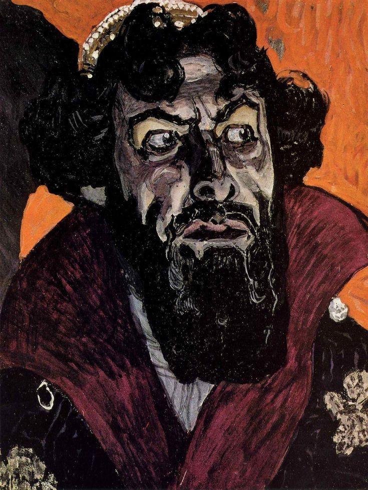 Golovin, Alexander Yakovlevich: Portrait of Fyodor Chaliapin as Boris Godunov. Study. 1912