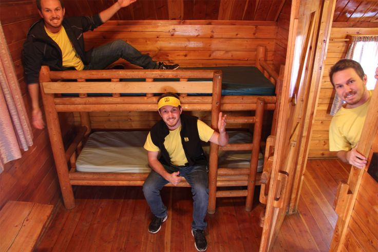 Camping has never been more convenient!  This 2 Room Cabin sleeps up to 6 people.  It even has free wi-fi connection!  Sooo goood!