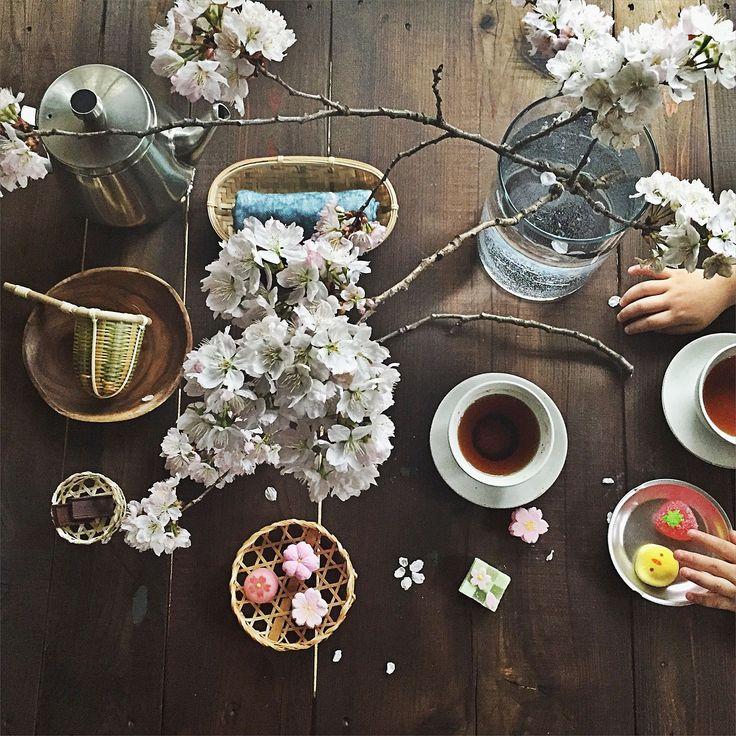 こどもと暮らす。/竹かご/お茶の時間/白雪ふきん/ティーポット/おうちカフェ…などのインテリア実例 - 2016-03-18 15:46:31 | RoomClip(ルームクリップ)