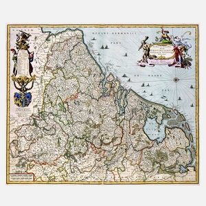 Map Of  Netherlands 1681 Print, 65€, now featured on Fab.