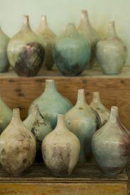 raku  vases- Raku is an ancient Japanese process working with clay.: The Artists, Ancient Japan, Color, Japan Process, Japanese Pottery, Water Vase, Art Is, Raku Vases, Japan Pottery