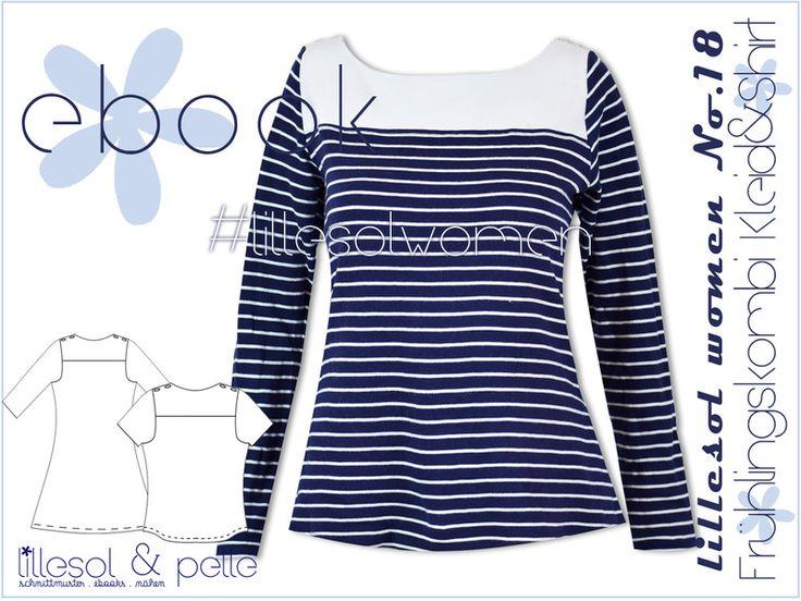 Nähanleitungen Mode - Ebook/Nähanleitung Dame Frühlingskombi Kleid Shirt - ein Designerstück von Lillesol-und-Pelle bei DaWanda