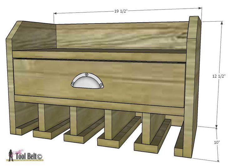 Organice sus herramientas, planes gratis para un almacenamiento de perforación y carga de la batería estación inalámbrico DIY.