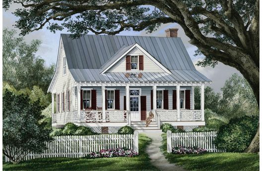 I cant stay away from small farmhouses. This plan is so cute! I love the shape of the roof.