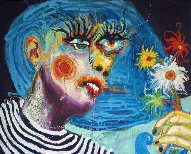 Oljemålning på linneduk / Fine Art Print:Jag ger dig det bästa jag har. www.johanadamsson.se