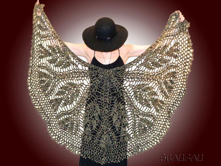 """Вязание: шаль """"черный блеск"""" (шаль,вязание,рукоделие) ФОТО #2"""