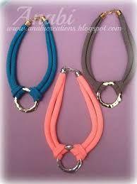 Resultado de imagen de collares de cordones de colores