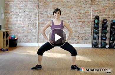 6-Minute Hips, Glutes and Thighs Workout Video via @SparkPeople