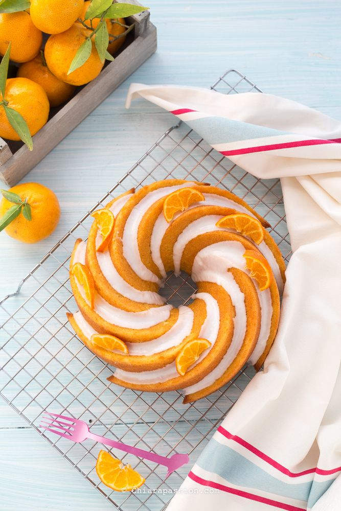 Torta soffice al mandarino (senza latte e senza burro) tangerine bundt cake - Chiarapassion