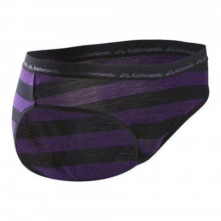 Seri Brief Women - Black Blackberry Stripe