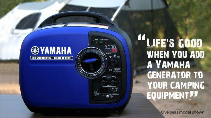 The best camping companion; the 2000w Yamaha Inverter Generator