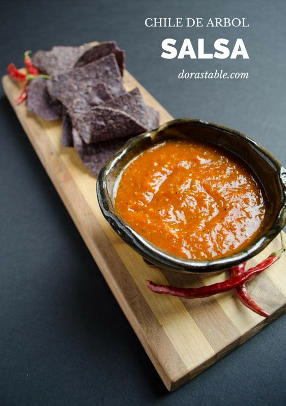 Chile de Arbol Salsa. A vegan mexican recipe.