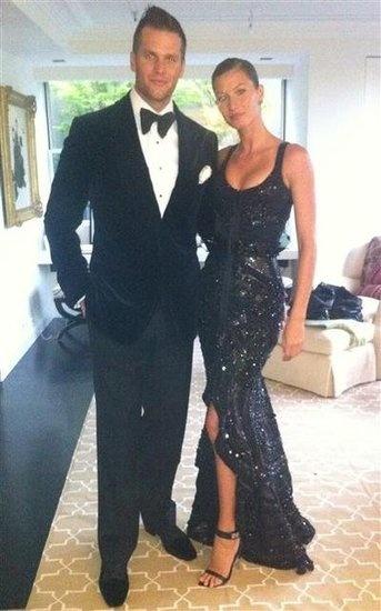 Tom Brady and Gisele Bundchen pre Met Gala on a Madeline Weinrib carpet via Gisele's instagram.
