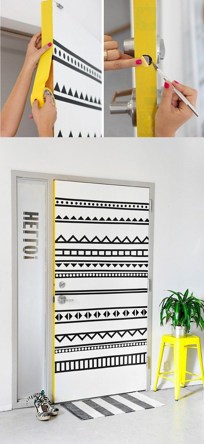 Creativa decoración para puerta - ispydiy.com - DIY Door Decor