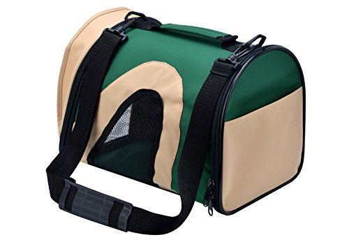 Airline Approved Pet Carrier Travel Portable Bag for Teacup Puppy Dog Green Medium * You can find out more details at the link of the image. #CatCarriersStrollers
