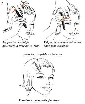 Tutoriel et inspirations carré boucles crantées, coiffure rétro, vintage, années 20-30 #Hairstyle                                                                                                                                                                                 Plus