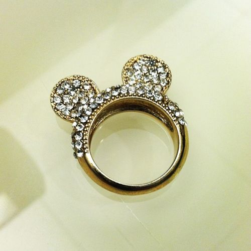 Mickey Mouse ring. <3: Disney Wedding, Mickey Mouse, Disney Rings, Diamonds Rings, Minnie Mouse, Ears, Jewelry, Wedding Rings, Engagement Rings