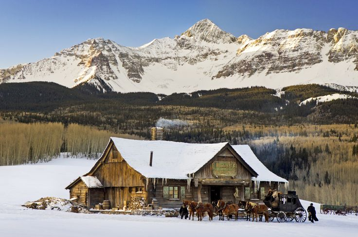 Quentin Tarantino's new film, The Hateful Eight, was filmed in Colorado with Wilson Peak and the Rocky Mountains in the background stand in for the vistas of Wyoming. See more from the set of the Golden Globe award-winning movie now.