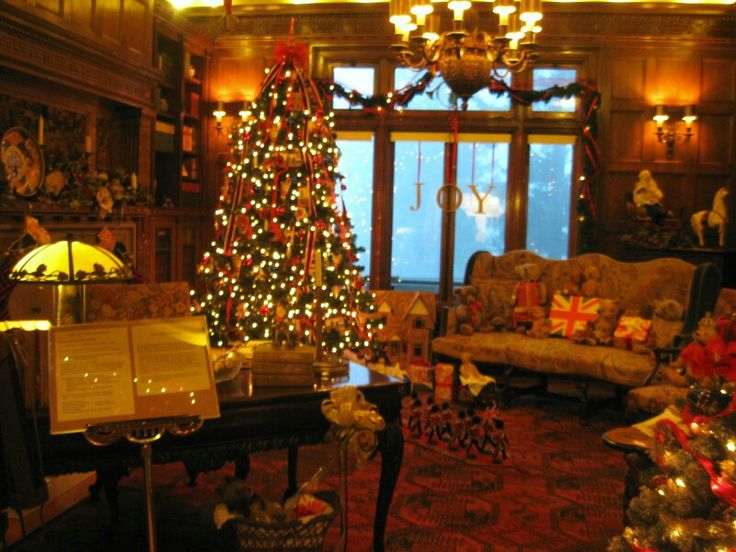 Image result for christmas at the pittock mansion