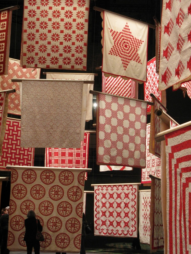 I Love The Display And I Love Red And White Quilts