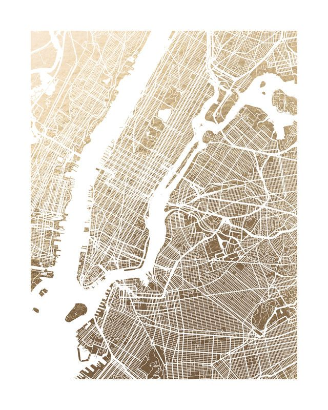 New York City Map by Alex Elko Design for Minted