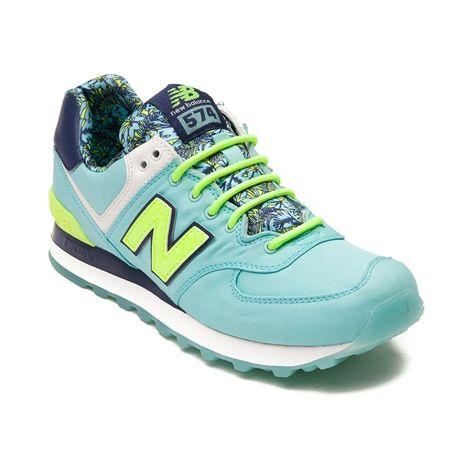 Womens New Balance  Athletic Shoe Light Blue Volt Navy