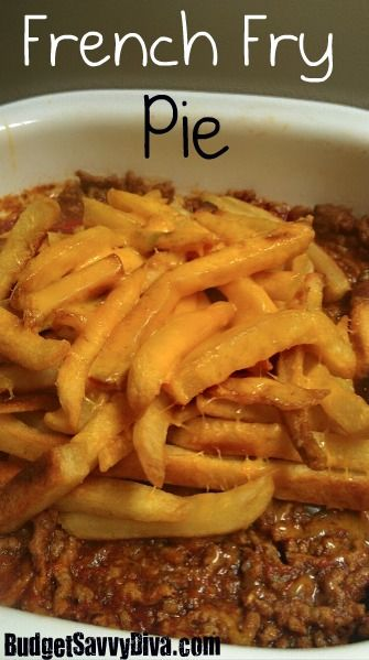 French Fry Pie - Must try this!
