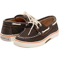 Sperry Kids  ...or for c.dog they're just so cute and easy for the kids to put on.