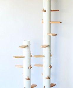 Die Katzenleiter für Balkon und außen von Cattrip Nature. Kinderleicht Zusammenbauen nach dem patentierten Steckprinzip ohne Schrauben, ohne Werkzeug.