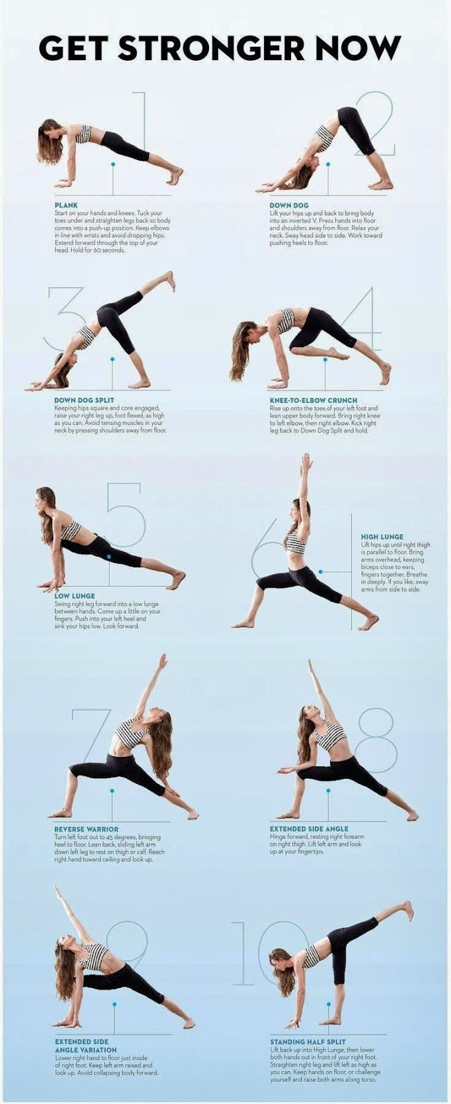 Yoga poses and stretches. I think yoga will be a benefit for doing in between…