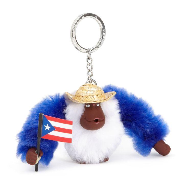 Kipling Puerto Rico Monkey Keychain