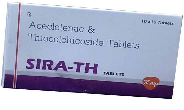 Aceclofenac 100 mg + Thiocolchicoside 4 mg   #rays #pharmaceuticals #rayspharmaceuticals